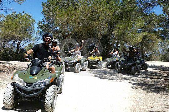 tour guíada en quad en Ibiza