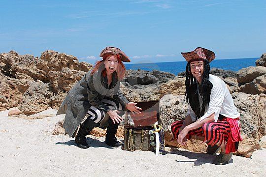 Piratenschatz auf dem Kinder-Ausflug Mallorca