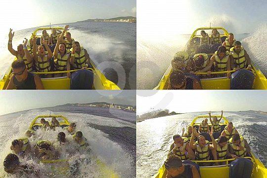 Empapados en el Jetboat tour en Ibiza
