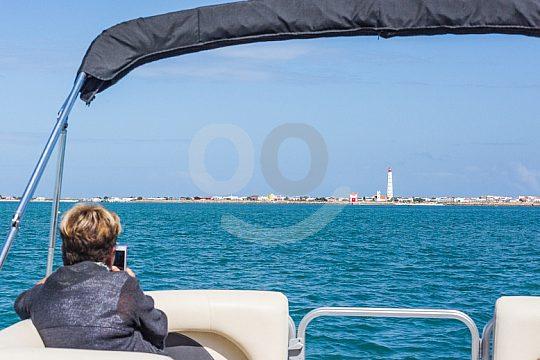 excursion en barco vista del tour isla