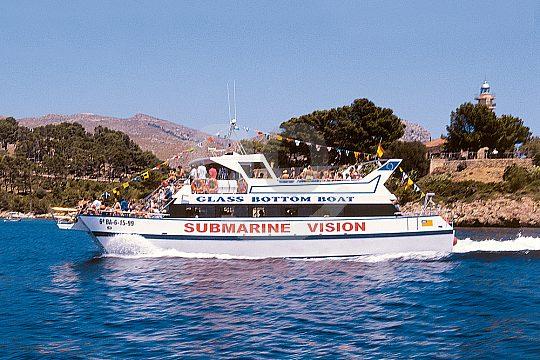 Paseo en barco de vision submarina desde Pollensa
