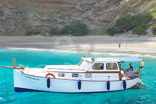 Excursión en barco desde Alcudia hasta la puesta de sol