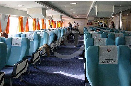Sitzplatz auf der Ibiza-Fähre