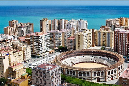 Málaga von oben