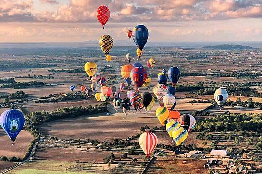 Ballonfliegen in der Gruppe auf Mallorca