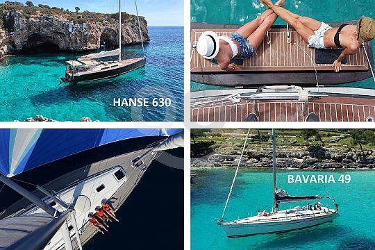 Mallorca Segelboote in den schönen Buchten