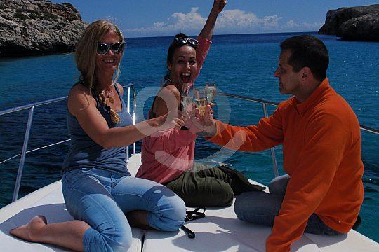 salida privada en barco desde Porto Cristo