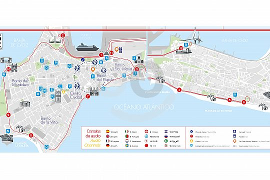 Route Cadiz City Sightseeing Bus