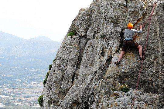 escalada con un guía experimentado