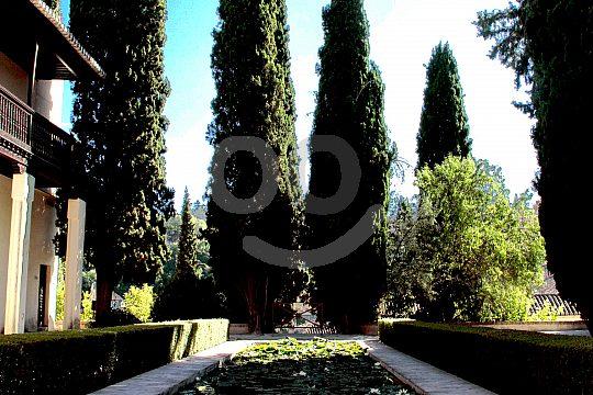 casa y jardín del Edad Media en Granada