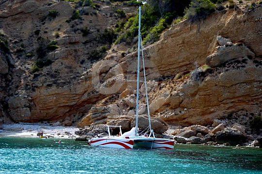 salida en catamarán en Menorca