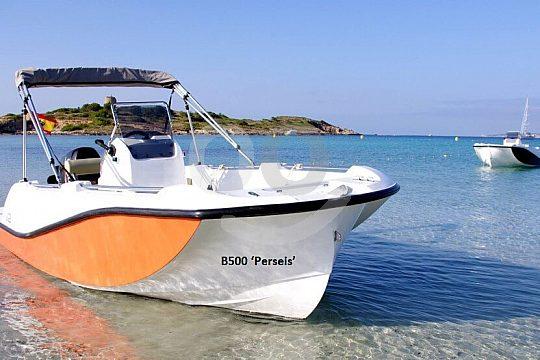 Ankerstopp mit führerscheinfreiem Boot