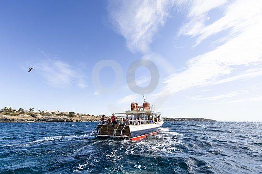 Bootstrip an der Küste von Palma