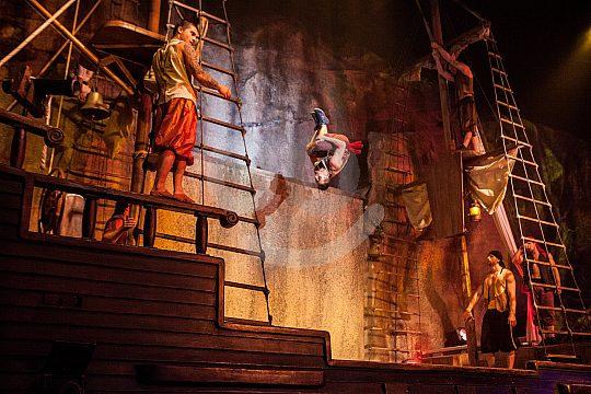 el espectáculo de piratas en Mallorca suroeste