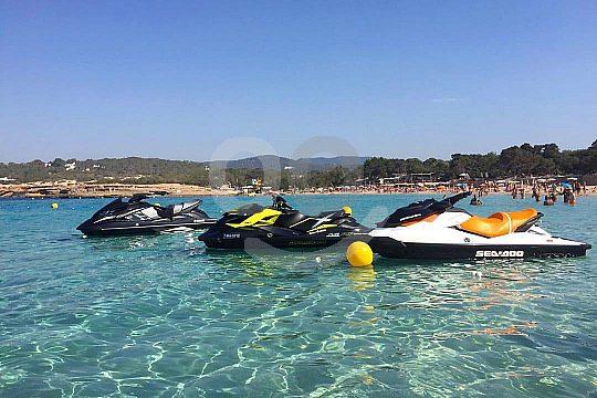 moto de agua en Playa d'en Bossa