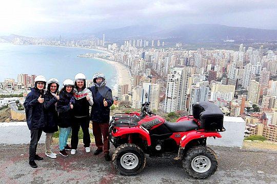 En Benidorm con el quad