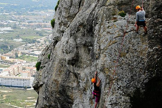 escalada de aventura en Mallorca