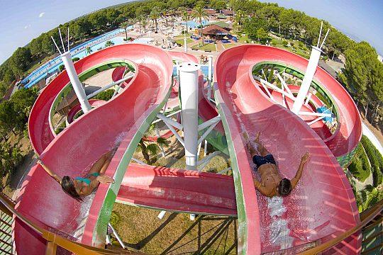 tobogán Arenal Mallorca Aqualand excursión