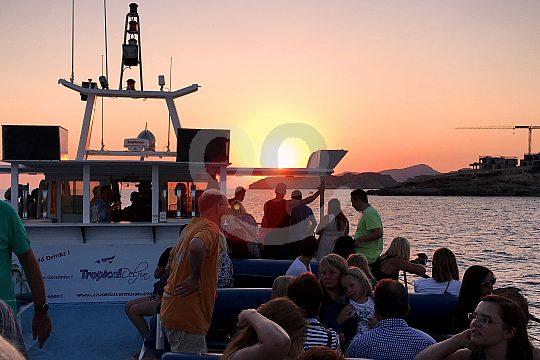 excursión en barco al atardecer Mallorca