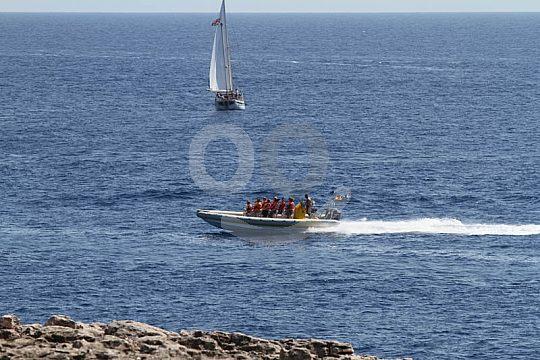 Con el speedboat en Mallorca