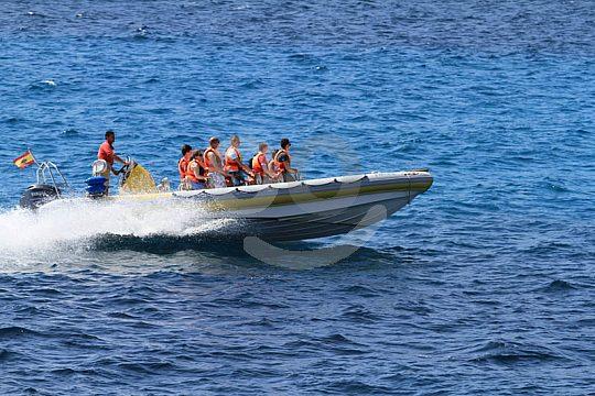 Participantes en el speed boat tour