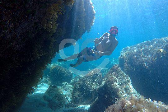 Gran paisaje submarino en Ibiza