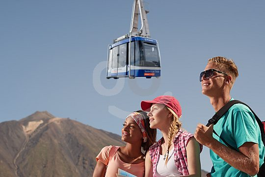 tickets por la familia por el teleférico del Teide
