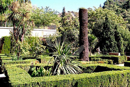 jardínes privados del Edad Media