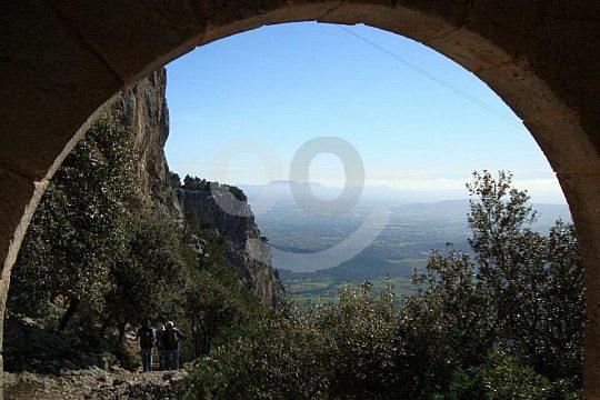 vistas desde el Puig d'Alaró en la caminata