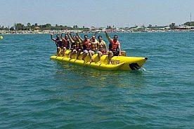 Gäste auf dem Bananaboot in Chipiona