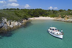 Fornells Bootsausflug Menorca