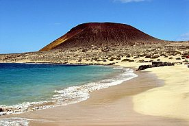 Atemberaubender Blick auf die Insel La Graciosa
