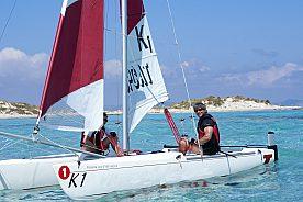 Navigieren auf dem Mittelmeer nach Espalmador