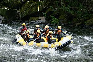 Rafting en Galicia - en la Ulla aguas abajo de la Ría de Arousa (Pontevedra)