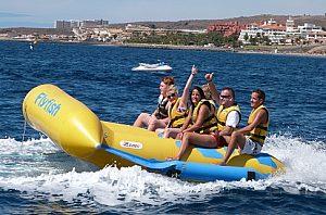 Flyfish und Banana Boot fahren auf Teneriffa