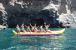 Banana Boot fahren auf Gran Canaria