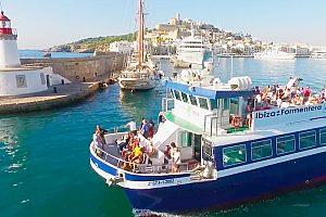 Todo el año en ferry de Ibiza a Formentera - desde el sur de Ibiza a la isla vecina