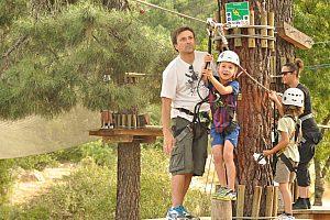 Kletterwand Hochseilgarten Mallorca