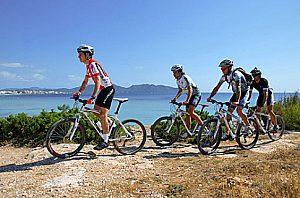 Excursion en bicicleta en Cala Millor, en el este de mallorca