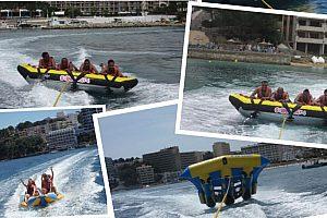 Paquete de deporte acuático en Magaluf: flying fish, moto de agua, crazy ufo + Banana gratis!