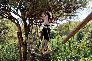 Parque Aventura Portugal: cuerdas altas en el Algarve desde Albufeira, Lagos, Santo Antonio