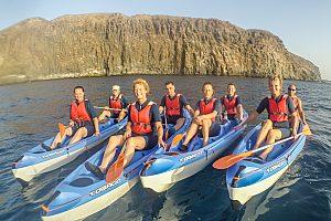 Viaje en kayak en Fuerteventura (sur) – opcionalmente con snorkeling