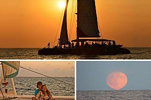 Sonnenuntergang in Malaga auf der Katamaran Tour