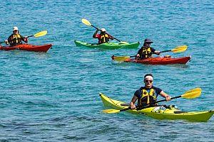 Excursión en kayak en La Ametlla de Mar (Tarragona) en la Costa Dorada