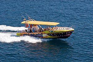 Costa sureste de Mallorca a máxima velocidad en speed boat