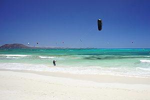Kitesurfen Fuerteventura Wasser