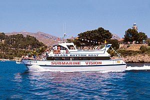 Excursión en barco de visión submarina en la bahía de Pollensa