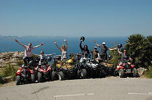Excursión en Quad desde Artá con recogida en Cala Ratjada, en el este de Mallorca