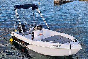 Boot ohne Führerschein auf Menorca mieten