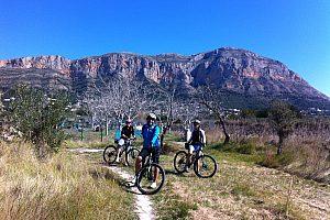 auf Montgo Tour mit dem Mountainbike ab Denia